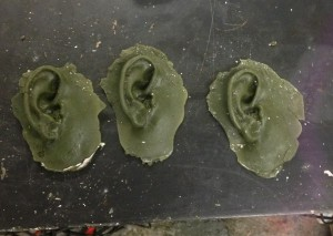 These are wax copies of my ears that will soon be glass.